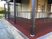 Резиновое покрытие для двора частного дома